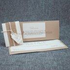 Invitación de boda kraft tela Belarto 726071 interior