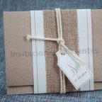 Kraft Wedding Invitation Fabric Belarto 726071 Detail