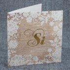 Partecipazione matrimonio in legno Sì Belarto 726034