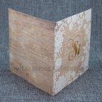 Invitación de boda madera Sí Belarto 726034 abierta