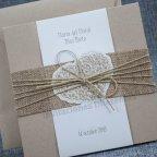 Invitación de boda kraft yute Belarto 726074 detalle