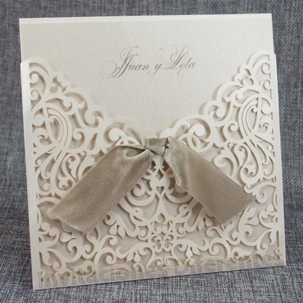 Invitación de boda troquel floral Belarto 726047