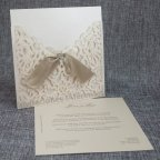Invitación de boda troquel floral Belarto 726047 abierta