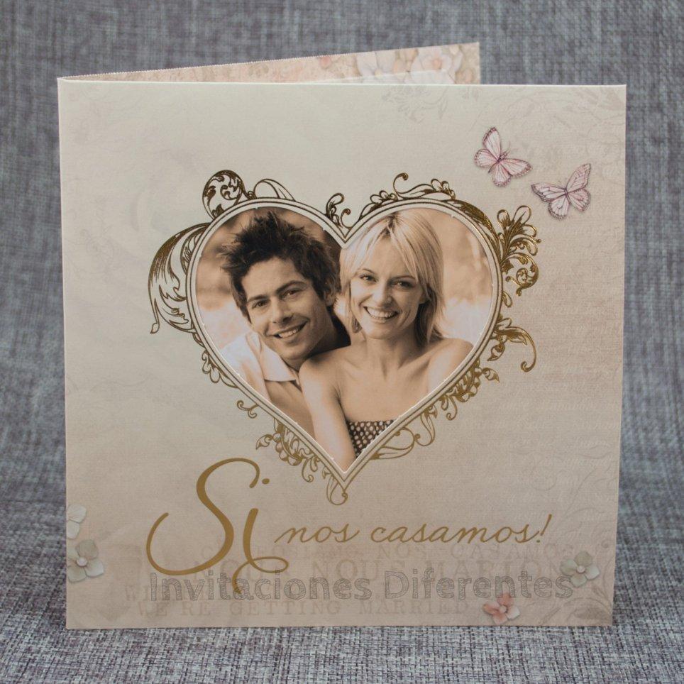 Invitación de boda foto corazón Belarto 726046 texto