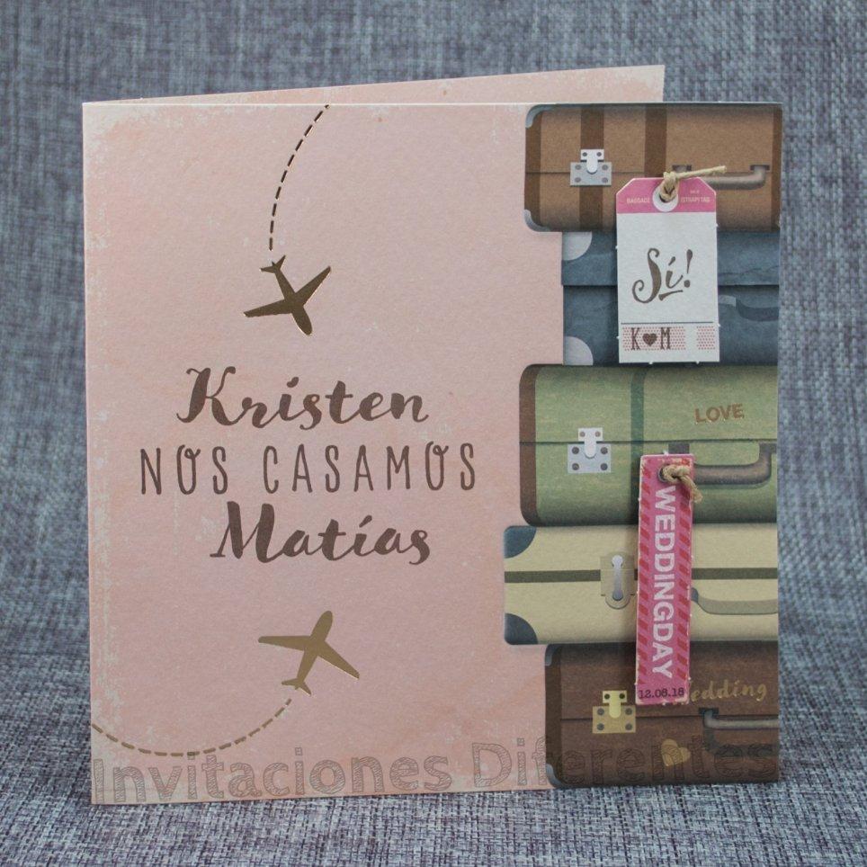 Wedding Invitation Suitcases Travel Belarto 726013