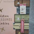 Invitación de boda maletas viaje Belarto 726013 detalle 2