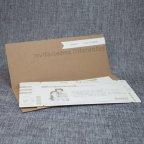 Invitación de boda kraft pasaporte, Belarto 726020 tarjeta