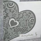 Invitación de boda corazón brillo Belarto 726064 detalle