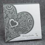 Invitación de boda corazón brillo Belarto 726064