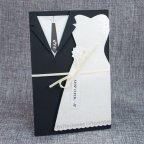 Invitación de boda trajes novios, Belarto 726024