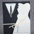 Invitación de boda trajes novios Belarto 726024 detalle