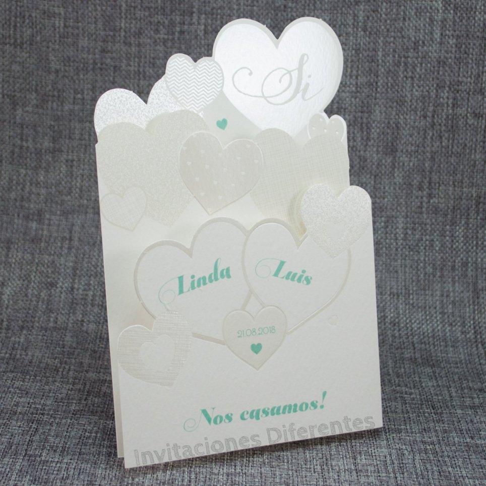 Hochzeitseinladungsherzen Belarto 726017