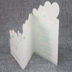 Invitación de boda corazones abierta Belarto 726017