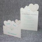 Invitación de boda corazones abierta 2 Belarto 726017