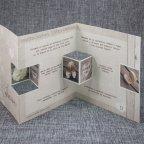 726001 Wood Belarto triptych wedding invitation