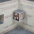 Innenausschnitt des hölzernen Triptychons Hochzeitseinladung Belarto 726001