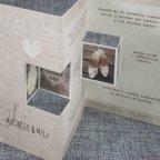 Invitación de boda tríptico madera Belarto 726001 tridimensional