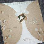 Partecipazione matrimonio sabbia vegetale Belarto 726012 dettaglio