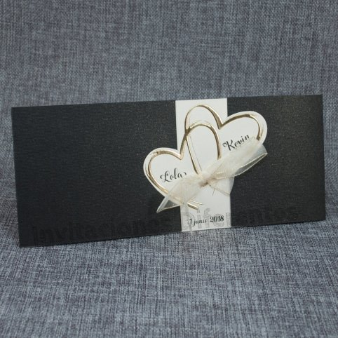 Goldene Herzen der Hochzeitseinladung Belarto 726062