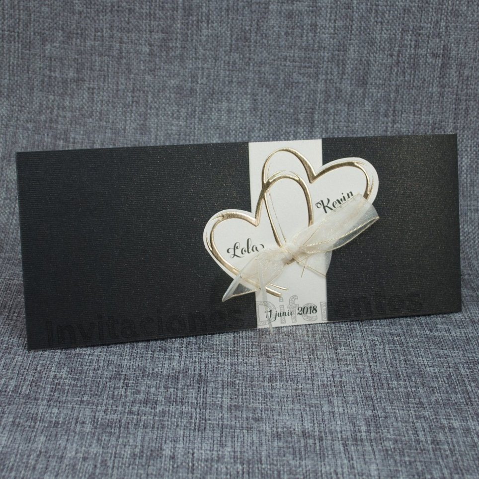Golden Hearts Wedding Invitation Belarto 726062