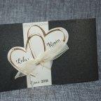 Invitación de boda corazones dorados Belarto 726062 detalle