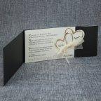 Invitación de boda corazones dorados Belarto 726062 abierta