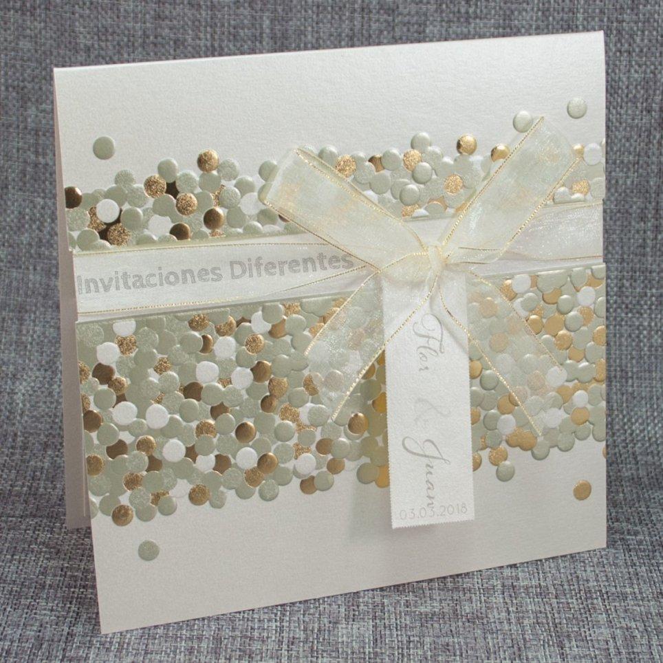 Invitación de boda confeti Belarto 726048