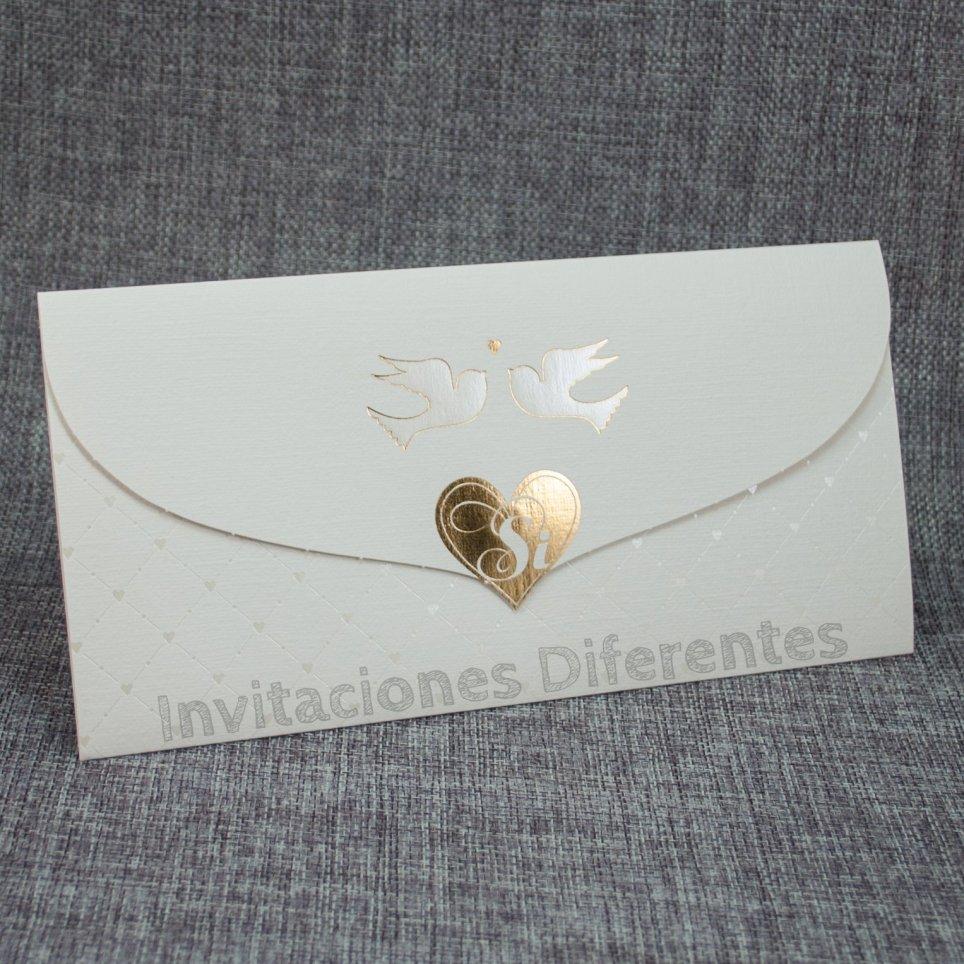 Invitación de boda palomas Belarto 726029