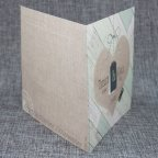 Jute heart wedding invitation Belarto 726002 rear