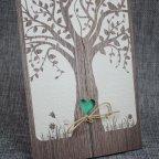 Invitación de boda árbol corazón Belarto 726015 detalle