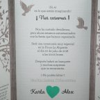 Hochzeitseinladungsbaumherz Belarto 726015 Text