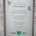 Invitación de boda árbol corazón Belarto 726015 texto