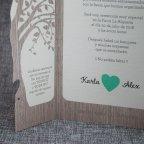 Invitación de boda árbol corazón Belarto 726015 pala izquierda
