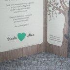Hochzeitseinladungsherzbaum Belarto 726015 rechte Schaufel