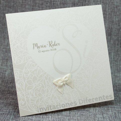 Invitación de boda Sí corazón Belarto 726068