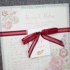 Invito matrimonio vegetale fiori Belarto 726039 dettaglio