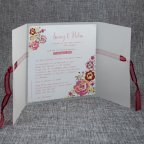 Invito matrimonio vegetale fiori Belarto 726039 aperto
