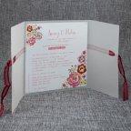 Invitación de boda vegetal flores Belarto 726039 abierta