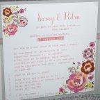 Invitación de boda vegetal flores Belarto 726039 texto