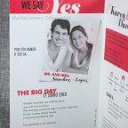 Yes magazine wedding invitation Belarto 726009 shovel to