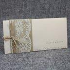 Invitación de boda dorado y encaje, Belarto 726042