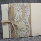 Invitación de boda dorado y encaje Belarto 726042 detalle