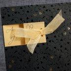 Partecipazione matrimonio cuori glitterati, dettaglio Belarto 726052