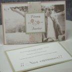 Invitación de boda corazón florido Belarto 726023 tarjeta 1
