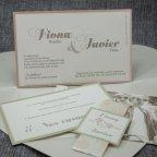 Invitación de boda corazón florido Belarto 726023 tarjeta 3