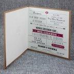 Invitación de boda kraft nombres Belarto 726081 abierta
