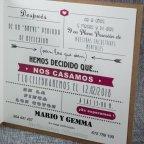 Invitación de boda kraft nombres Belarto 726081 texto