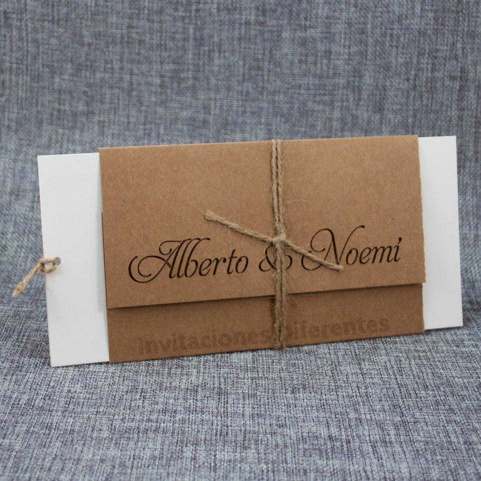 Invitación de boda nombres troquelados Belarto 726082
