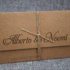 Gestanzte Namen der Hochzeitseinladung Belarto 726082 gestanztes Detail