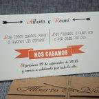 Invitación de boda nombres troquelados Belarto 726082 interior detalle